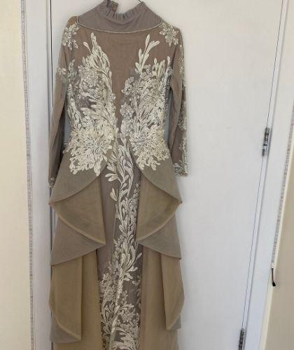 Buy Sell Evening Dress Dubai UAE Grey Saiid Kobeisy Size Medium