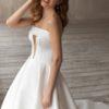 Buy Sell Wedding Dress Online Dubai UAE White Eva Lendel 2021 Etolie A-Line Dress with straight across neckline. Strapless, size small